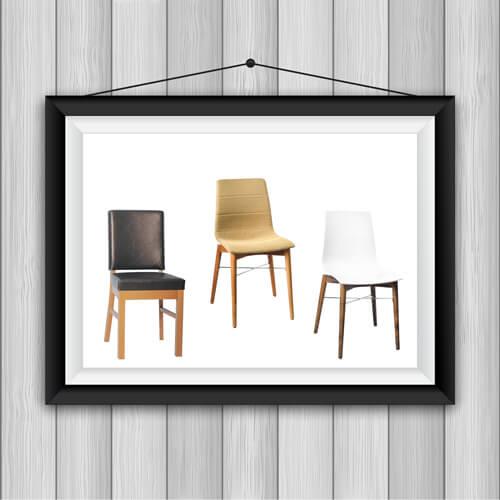 כיסאות עץ מרופדים