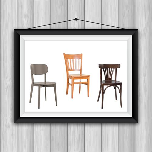 כיסאות עץ לפינת אוכל