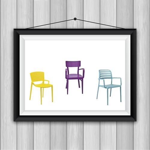 כיסאות פלסטיק מעוצבים